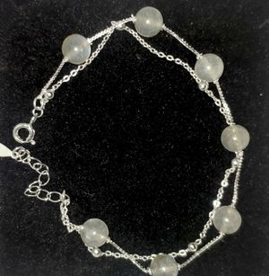 New ~no brand moonstone silver925 bracelet & necklace both! 19mm & 45mm for Sale in Pembroke Pines, FL