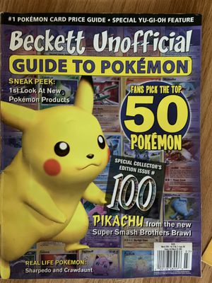 Pokemon Collectible Beckett Unofficial Guide to Pokémon Issue 100, March 2008 for Sale in Portland, OR