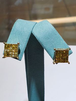 14K Gold Princess Cut Yellow Diamonds for Sale in San Diego, CA
