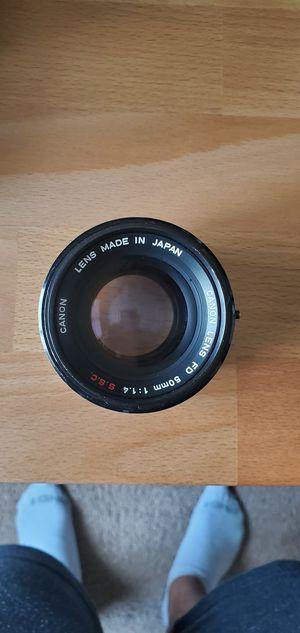 Canon FD 50mm f1.4 S.C.C. for Sale in Las Vegas, NV