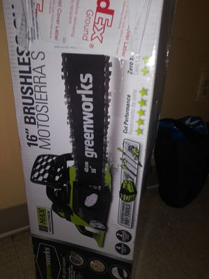 16 in brushless chainsaw for Sale in Washington, DC