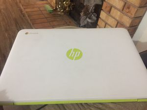 Hp Chromebook White and Lime Green for Sale in Las Vegas, NV