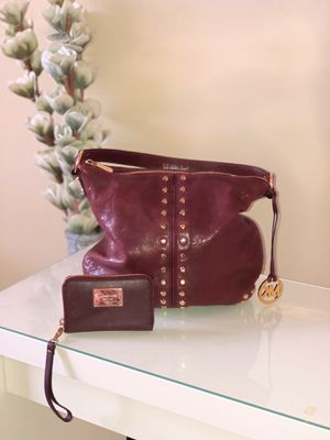 Michael Kors Uptown Astor + Matching Wallet - Bordeaux for Sale in Plantation, FL
