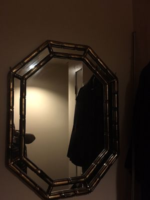 Brass type trimmed wall mirror for Sale in Washington, DC