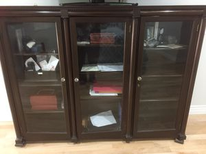 Antique lawyer cabinet curio books for Sale in North Bend, WA