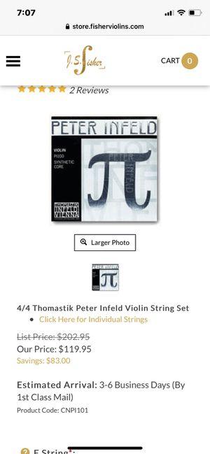 Peter infeld violin strings for Sale in Buena Park, CA