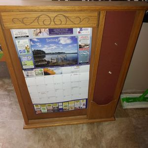 Message Board With Calendar holder for Sale in Camp Hill, PA