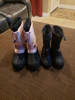 2 pairs of kids snow boots, price for both for Sale in San Diego, CA