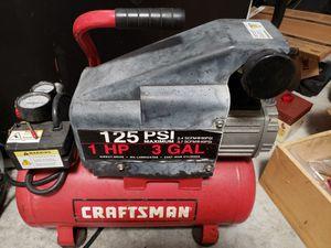 Craftsman 1hp 3gal compressor for Sale in Port St. Lucie, FL
