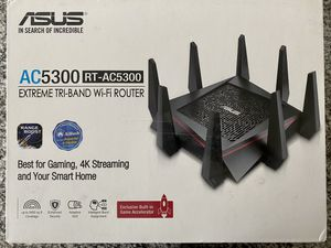Asus AC5300 tri-band wireless gaming router for Sale in West Linda, CA