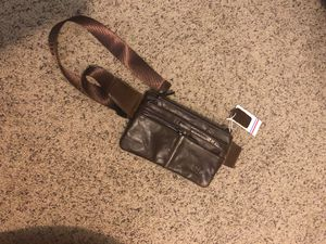Leather brown carrying bag waist or shoulder for Sale in Vancouver, WA