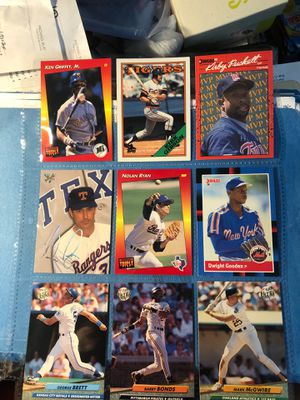 Baseball cards star and hall of famers ! RYAN,GRIFFEY,BONDS,BRETT,McGWIRE ,etc all for $3 for Sale in Beltsville, MD