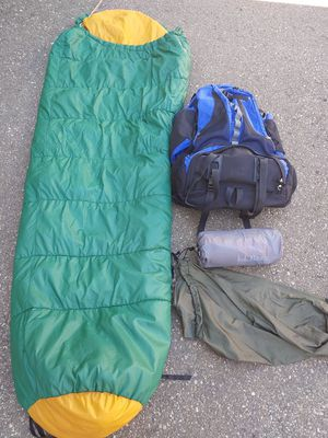 LL Bean backpack sleeping bag pad/ matress for Sale in Livonia, MI