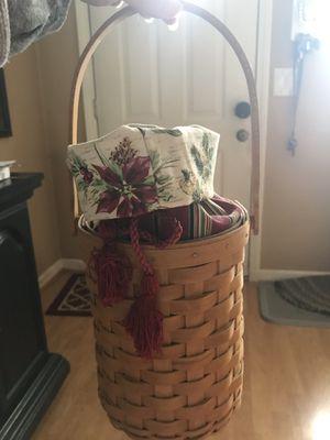 Longaberger beverage tote basket set for Sale in Naugatuck, CT