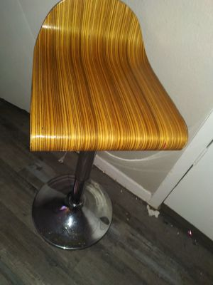 Hydraulic lift light colored wood bar stool for Sale in Dallas, TX