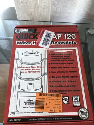 Quick strap 120 water heater restraints for Sale in Commerce, CA