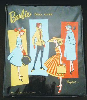 Vintage 1961 barbie ponytail Mattel black doll carrying case for Sale in Des Plaines, IL