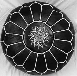 Moroccan Handmade Pouf Ottomans - Black -New for Sale in New York, NY