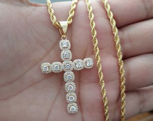 14k gold finish cross Pendant with Rope chain for Sale in Los Angeles, CA