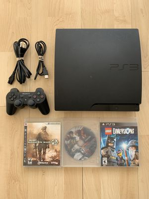 PlayStation PS3 Slim System with 3 Games for Sale in Chino Hills, CA