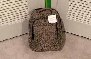 NEW! NWT Calvin Klein Luggage Backpack Bookbag Signature Khaki CK Logo $260 for Sale in Falls Church, VA