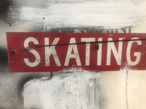 Antique skating sign for Sale in Pompton Lakes, NJ