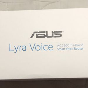 ASUS Lyra Voice AC2200 Tri-band Smart Voice Router for Sale in Atwater, CA