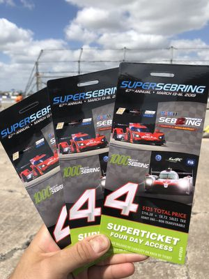 3 Super Sebring Four Day Access Tickets for Sale in Sebring, FL