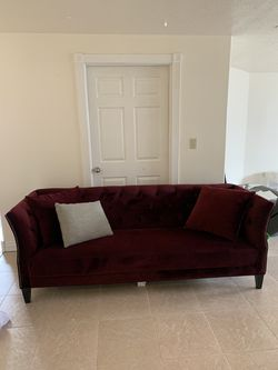 Red Velvet Couch for Sale in South Jordan,  UT