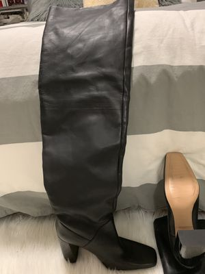 Black leather thigh high boots for Sale in Miami, FL
