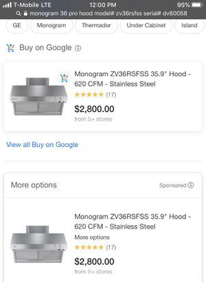 Stainless steel range hood for Sale in Phoenix, AZ