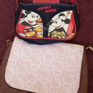 Hello Kitty Purse & Small Mickey Mouse Purse for Sale in Whittier, CA