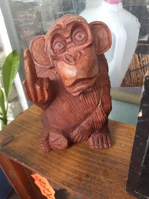 Cute little carved wooden flipping monkey for Sale in Dunedin, FL