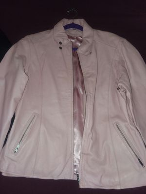 Handcrafted pink leather coat female 1X for Sale in Rustburg, VA