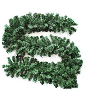 Christmas Garland 9 Feet Non-Lit Decoration for Stairs,Doorway, Fireplace, Handrails, Green, Durable for Sale in Irvine, CA