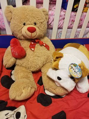 Big Teddy Bears Valentines Day gift Bear and Puppy for Sale in Glendale, AZ