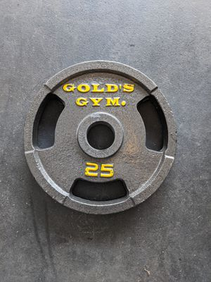 2x 25 lb olympic barbell plates for Sale in Daly City, CA