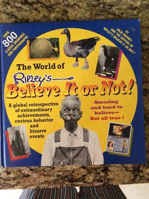Ripleys believe it or not book New five bucks for Sale in Tulsa, OK