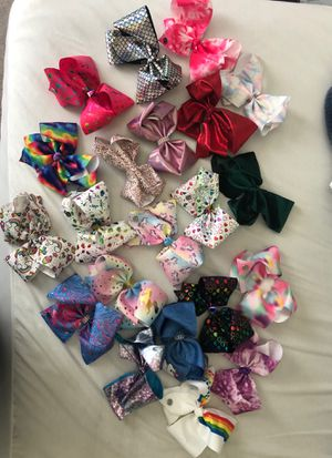 Jojo siwa collectio. bows new for Sale in Richmond, TX