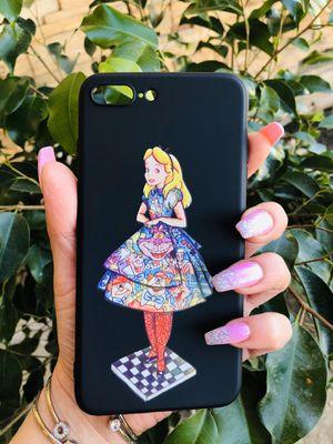 Brand new cool iphone 7+ or 8+ PLUS case cover rubber Alice in wonderland Cheshire Cat cute pretty girls womens disneyland disney for Sale in San Bernardino, CA