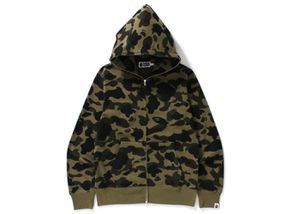bape 1st camo full zip hoodie green for Sale in Quincy, MA