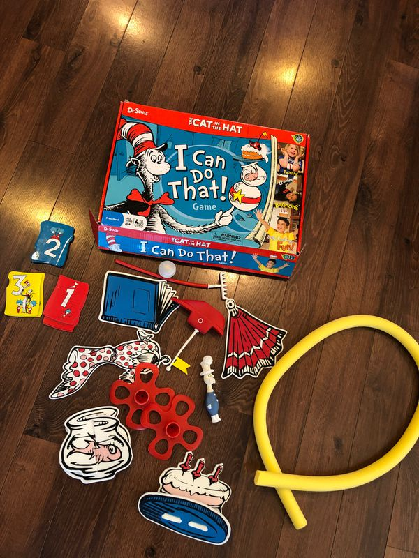 "New Cat in the Hat game ""I can do that"" - preschool Dr Seuss week- homeschool, party game"