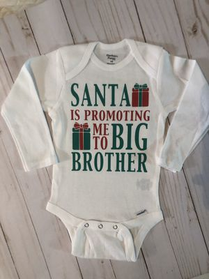 Christmas pregnancy announcement promoting me to big brother or sister for Sale in Santee, CA