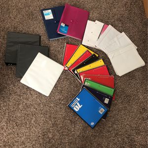 Bunch Of Office Supplies Paper, Binders, Notebooks for Sale in Vancouver, WA