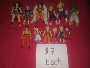 Dragon Ball Z Vintage Figures $7 Each for Sale in Germantown, MD