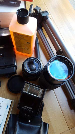Minolta film camera complete set for Sale in Santa Monica, CA