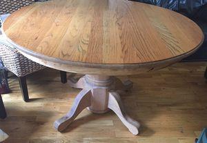 Oak pedestal Round kitchen table for Sale for sale  Acworth, GA
