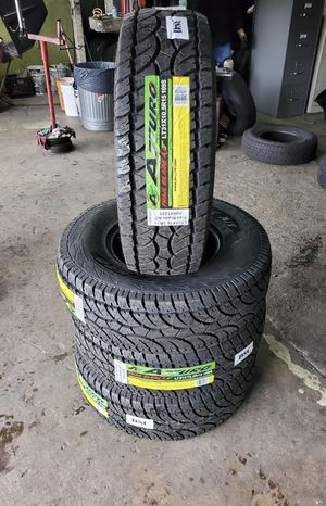 31x10.50x15 new all terrain tires for $495 with balance and installation we also finance Dorian 7637 airline dr houston TX 77037 for Sale in Houston, TX