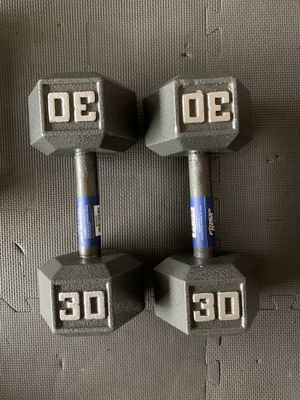 Brand new 30lb hex dumbbell weights! (Pair) for Sale in Tacoma, WA