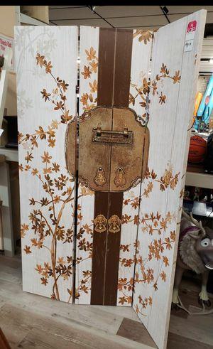 NEW 3 Panel Decorative Canvas Room Divider: njft home decor for Sale in Burlington, NJ